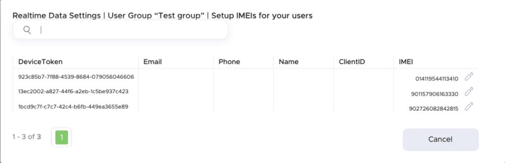 IMEI configuration